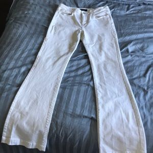 Banana Republic Flared White Jeans